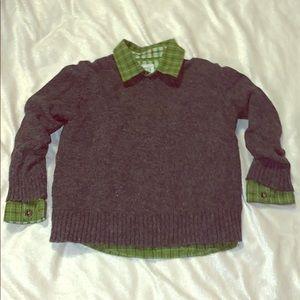 4t gap fleece sweater and 4t gap green button up